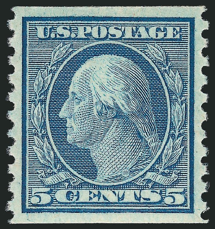 US Stamp Price Scott Cat. 496: 1919 5c Washington Coil Perf 10 Vertically. Robert Siegel Auction Galleries, Nov 2012, Sale 1034, Lot 453