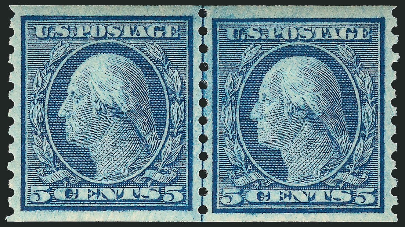 Costs of US Stamps Scott Catalogue #496: 1919 5c Washington Coil Perf 10 Vertically. Robert Siegel Auction Galleries, Mar 2014, Sale 1067, Lot 1573