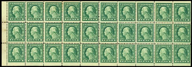 US Stamps Prices Scott Catalogue 498: 1c 1917 Washington Perf 11. Daniel Kelleher Auctions, May 2015, Sale 669, Lot 3094