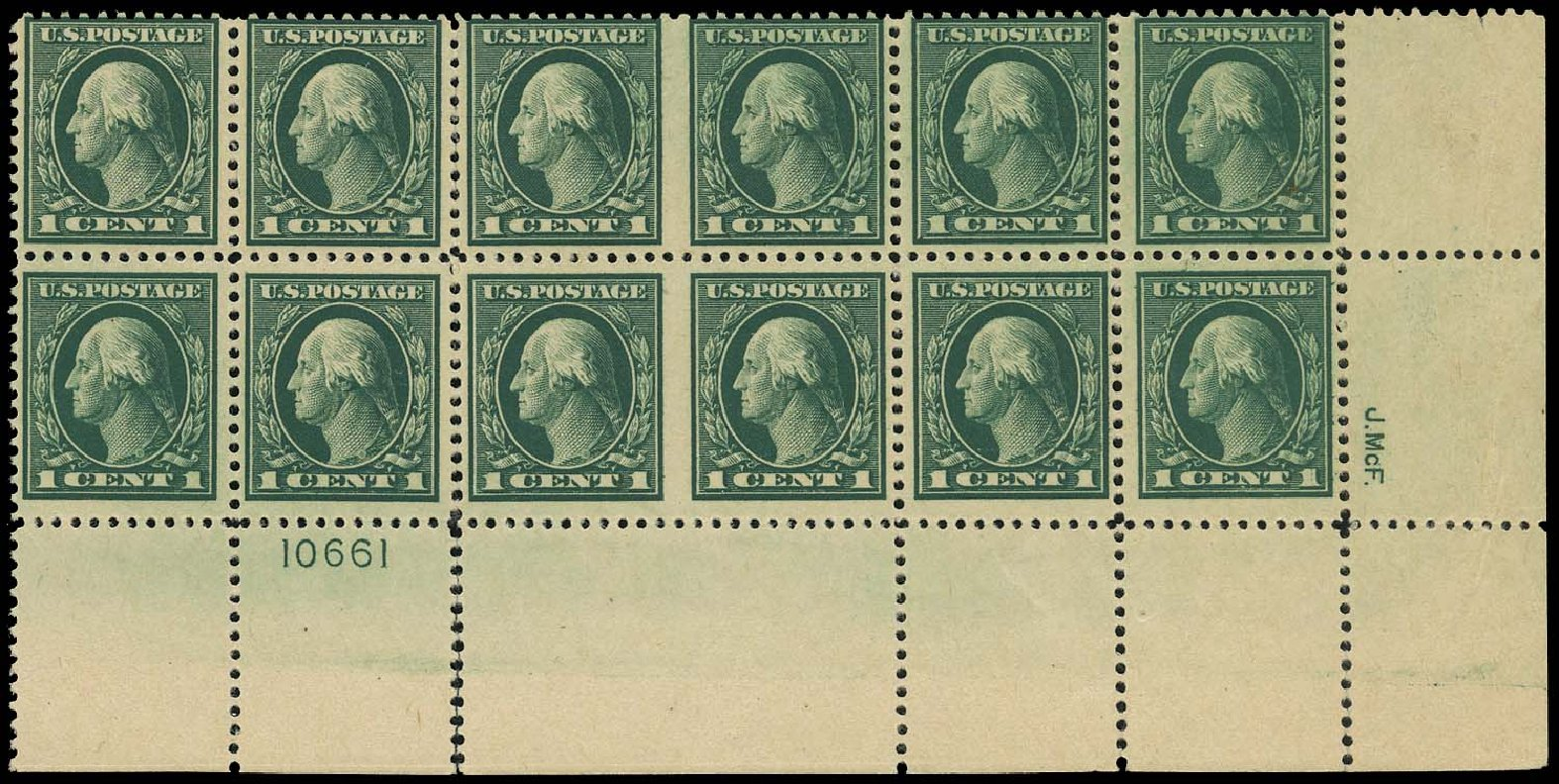 Price of US Stamp Scott # 498: 1c 1917 Washington Perf 11. Regency-Superior, Aug 2015, Sale 112, Lot 1544