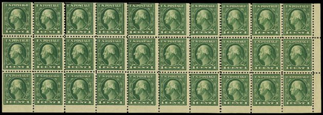 US Stamps Value Scott Catalogue # 498: 1917 1c Washington Perf 11. Daniel Kelleher Auctions, May 2015, Sale 669, Lot 3092