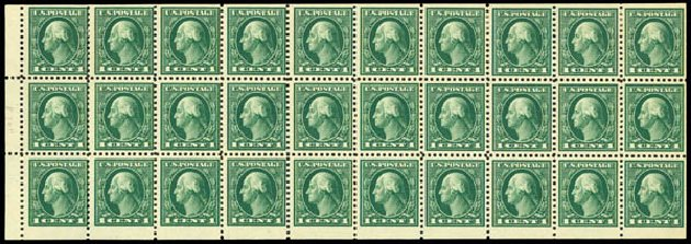US Stamps Price Scott Cat. #498: 1917 1c Washington Perf 11. Daniel Kelleher Auctions, May 2015, Sale 669, Lot 3093