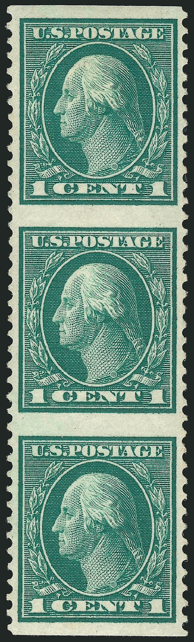 US Stamps Values Scott Cat. #498 - 1917 1c Washington Perf 11. Robert Siegel Auction Galleries, Apr 2015, Sale 1096, Lot 743