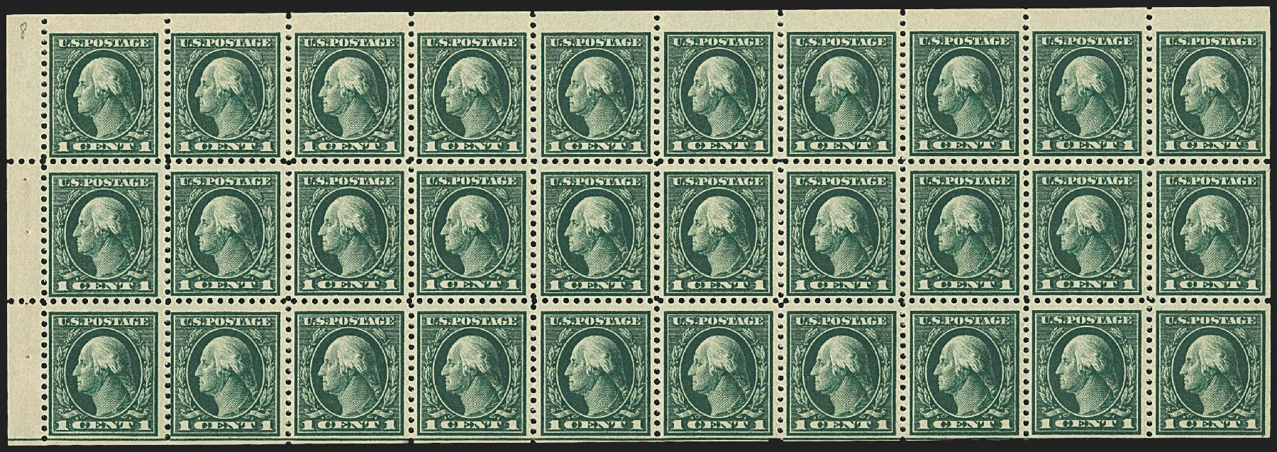 Costs of US Stamps Scott Catalog # 498 - 1917 1c Washington Perf 11. Robert Siegel Auction Galleries, Jul 2015, Sale 1107, Lot 496