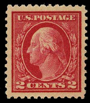 US Stamps Values Scott #499 - 2c 1917 Washington Perf 11. Daniel Kelleher Auctions, May 2015, Sale 669, Lot 3095