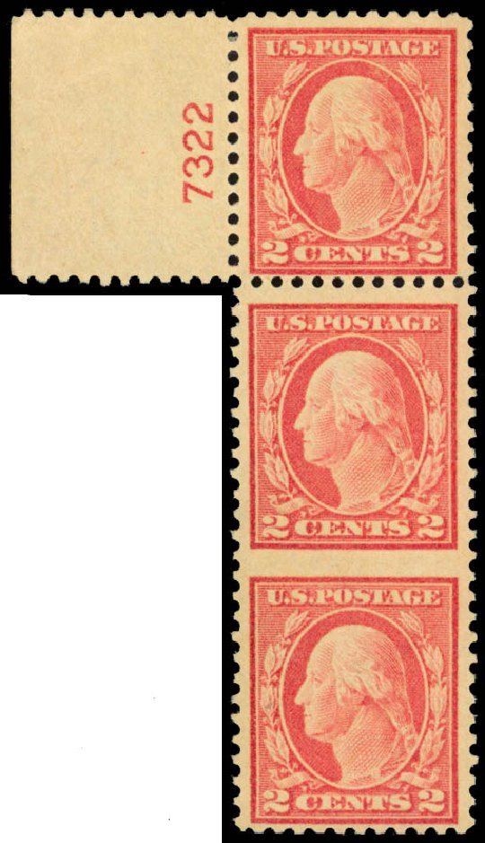 Values of US Stamps Scott 499: 1917 2c Washington Perf 11. Daniel Kelleher Auctions, Jan 2015, Sale 663, Lot 1846