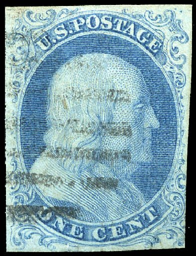 Value Of Us Stamp Scott Catalogue 5 1c 1851 Franklin