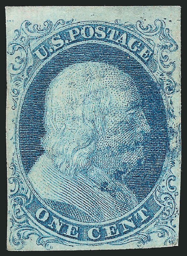 Cost of US Stamp Scott Cat. #5: 1851 1c Franklin. Robert Siegel Auction Galleries, Apr 2015, Sale 1096, Lot 9