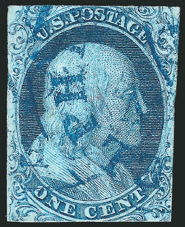 Value of US Stamp Scott Catalogue # 5: 1c 1851 Franklin. Robert Siegel Auction Galleries, Jun 2012, Sale 1025, Lot 71