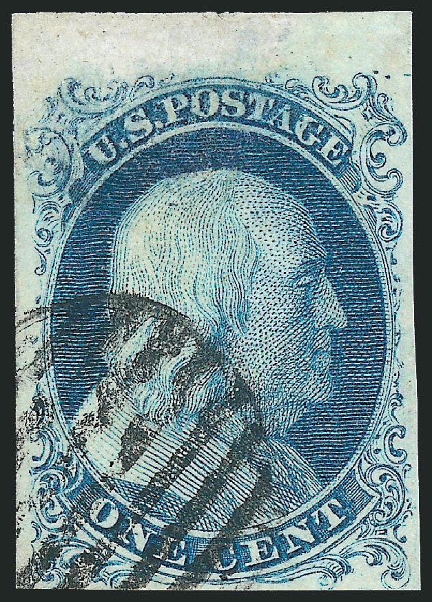 Costs of US Stamp Scott Cat. # 5 - 1c 1851 Franklin. Robert Siegel Auction Galleries, Mar 2013, Sale 1040, Lot 1181