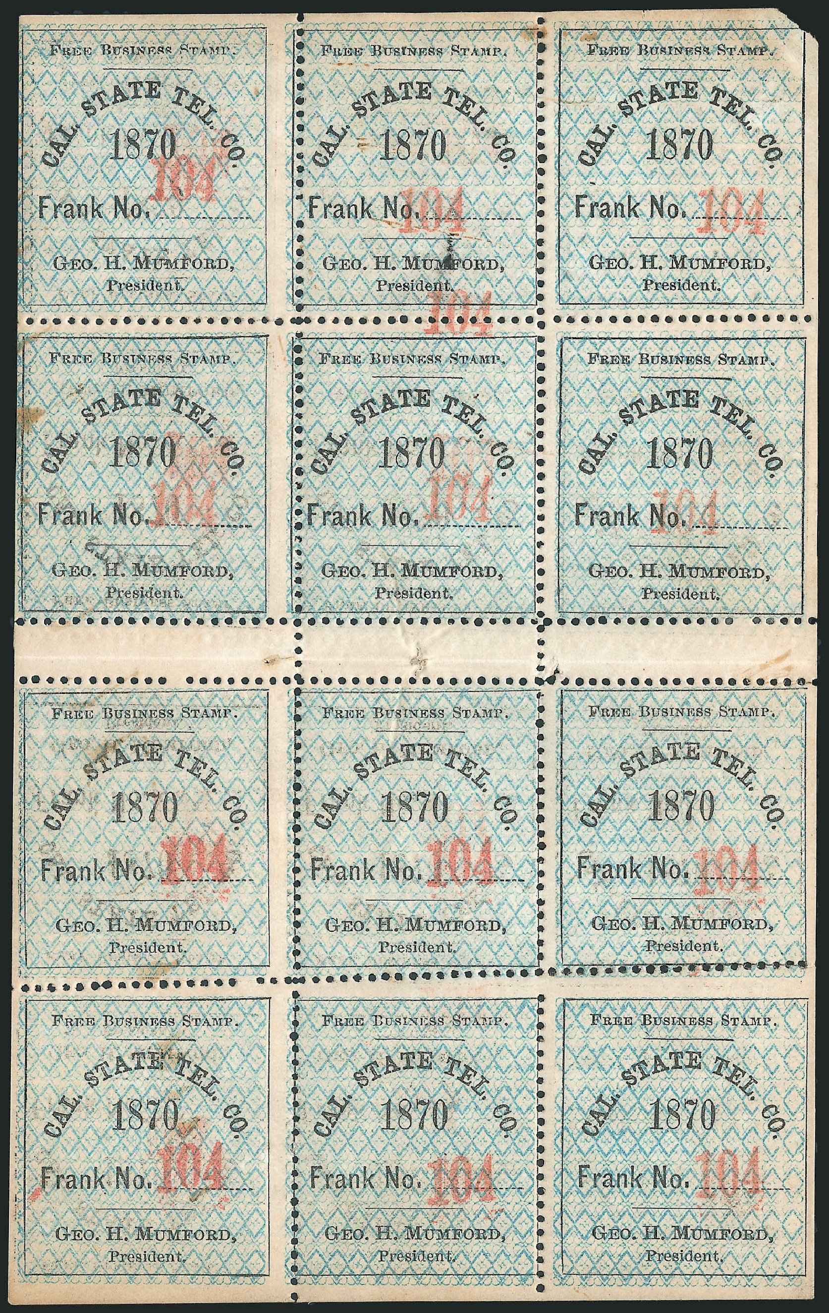US Stamp Value Scott Cat. #5 - 1c 1851 Franklin. Robert Siegel Auction Galleries, Jun 2015, Sale 1100, Lot 131