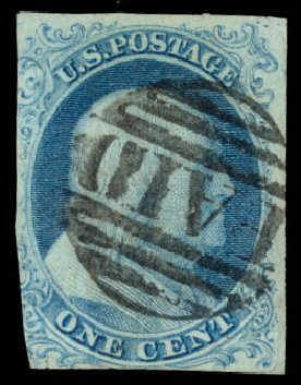 Price of US Stamp Scott Catalogue #5: 1c 1851 Franklin. Daniel Kelleher Auctions, Aug 2015, Sale 672, Lot 2114