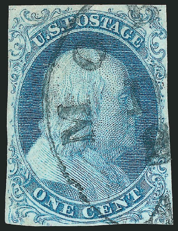 Values of US Stamps Scott Catalog 5 - 1851 1c Franklin. Robert Siegel Auction Galleries, Dec 2012, Sale 1037, Lot 1392