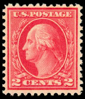 US Stamps Value Scott Catalogue 500 - 2c 1919 Washington Perf 11. Daniel Kelleher Auctions, May 2015, Sale 669, Lot 3097