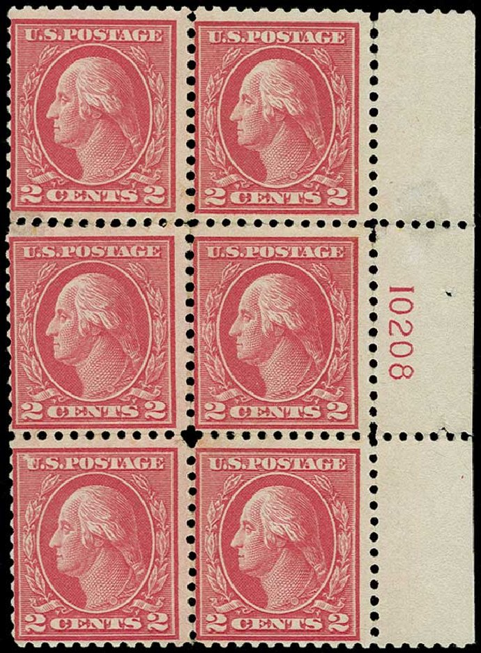 US Stamp Price Scott Cat. #500: 2c 1919 Washington Perf 11. H.R. Harmer, Jun 2015, Sale 3007, Lot 3344