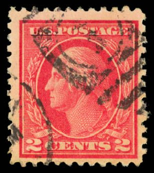 Cost of US Stamps Scott Cat. 500: 2c 1919 Washington Perf 11. Daniel Kelleher Auctions, Aug 2015, Sale 672, Lot 2764