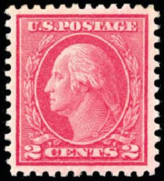 US Stamp Value Scott Catalogue 500 - 1919 2c Washington Perf 11. Schuyler J. Rumsey Philatelic Auctions, Apr 2015, Sale 60, Lot 2414