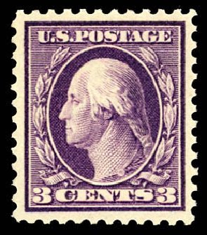 US Stamp Value Scott # 501 - 1917 3c Washington Perf 11. Daniel Kelleher Auctions, Dec 2012, Sale 633, Lot 877