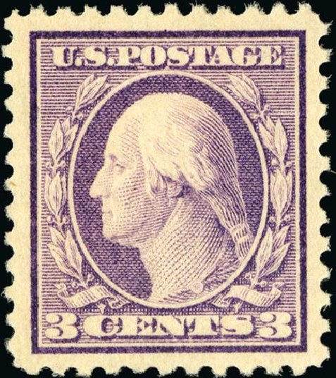US Stamps Value Scott 501 - 1917 3c Washington Perf 11. Spink Shreves Galleries, Jan 2015, Sale 150, Lot 189