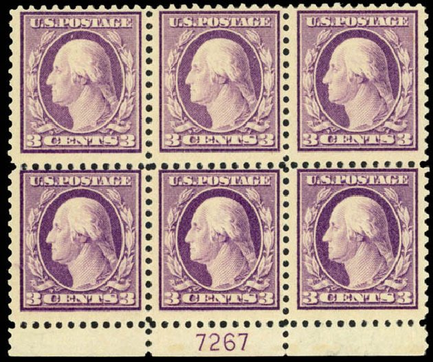 US Stamps Value Scott Cat. #501 - 3c 1917 Washington Perf 11. Daniel Kelleher Auctions, Mar 2013, Sale 635, Lot 566