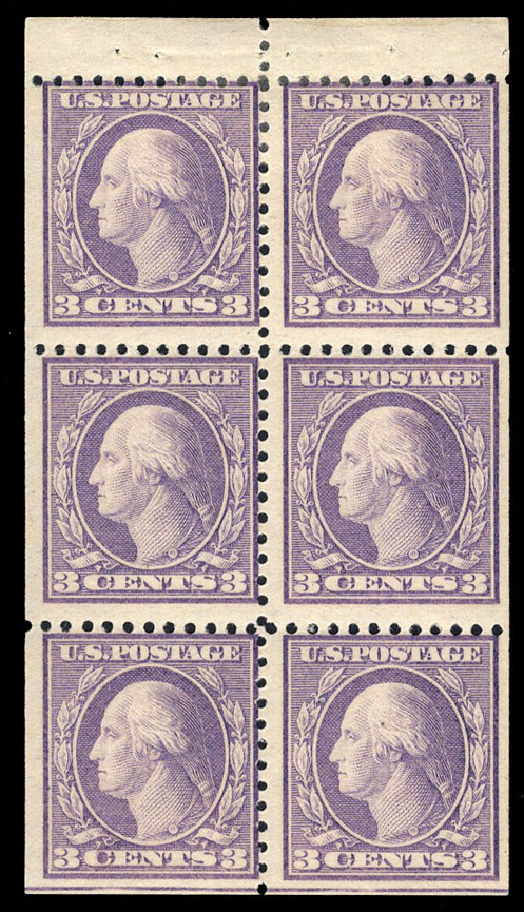 Values of US Stamp Scott Cat. #502: 1918 3c Washington Perf 11. Cherrystone Auctions, Mar 2015, Sale 201503, Lot 57