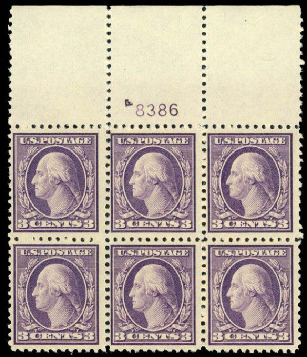US Stamps Prices Scott Cat. 502: 1918 3c Washington Perf 11. Daniel Kelleher Auctions, Mar 2013, Sale 635, Lot 567