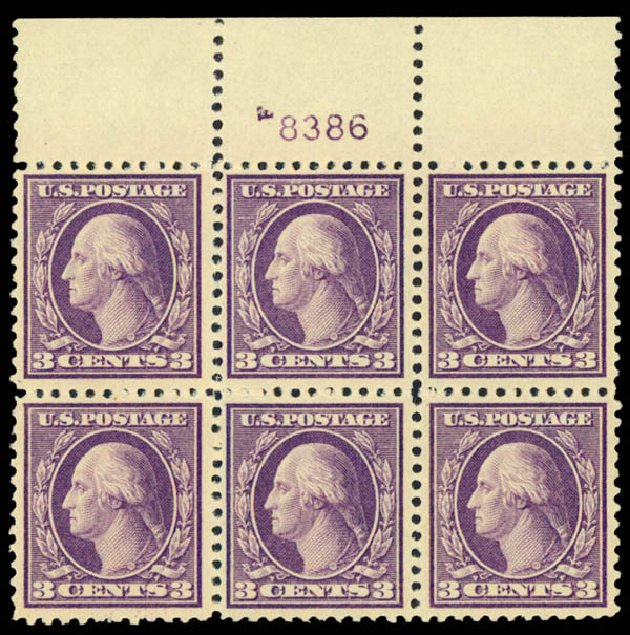 US Stamps Prices Scott Cat. #502 - 3c 1918 Washington Perf 11. Daniel Kelleher Auctions, Sep 2013, Sale 639, Lot 3612