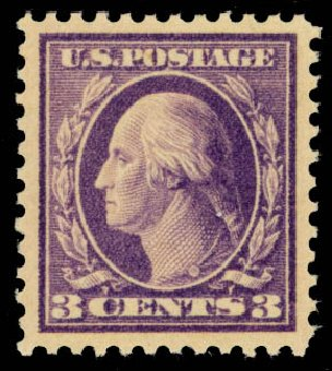 US Stamp Price Scott # 502 - 1918 3c Washington Perf 11. Daniel Kelleher Auctions, Oct 2014, Sale 660, Lot 2392