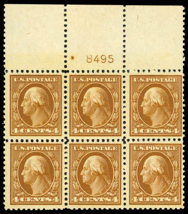 US Stamps Prices Scott Catalogue 503 - 1917 4c Washington Perf 11. Daniel Kelleher Auctions, Apr 2013, Sale 636, Lot 377