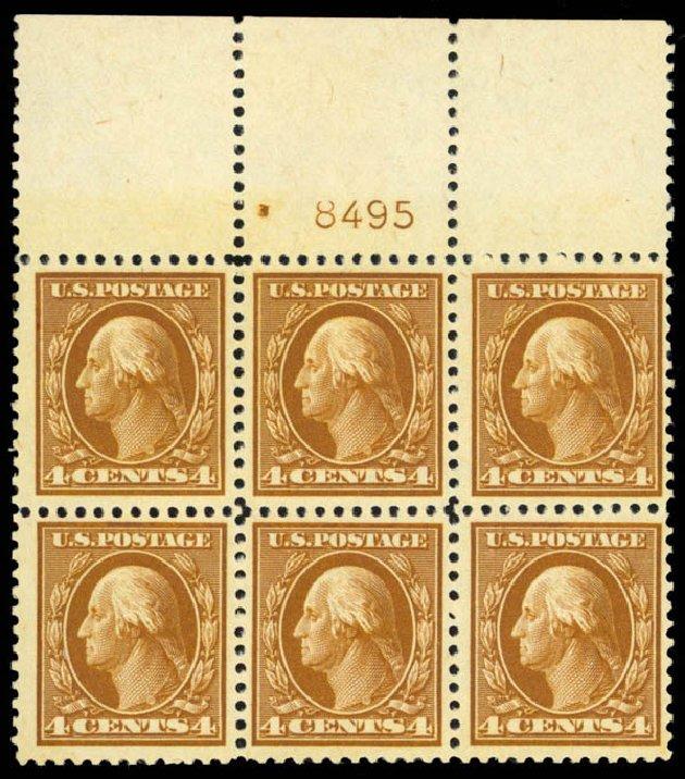 US Stamps Prices Scott Catalogue 503 - 1917 4c Washington Perf 11. Daniel Kelleher Auctions, Apr 2013, Sale 636, Lot 377