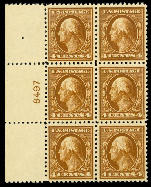 Costs of US Stamps Scott #503: 1917 4c Washington Perf 11. Daniel Kelleher Auctions, Sep 2014, Sale 655, Lot 708