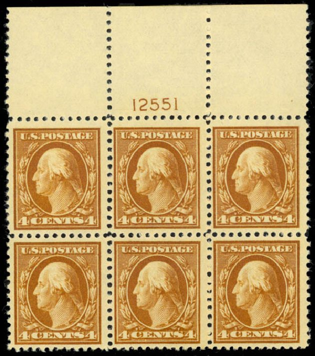 Value of US Stamps Scott #503 - 4c 1917 Washington Perf 11. Daniel Kelleher Auctions, Mar 2013, Sale 635, Lot 569