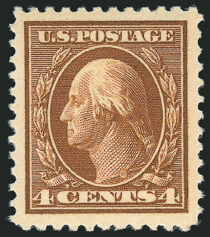 Values of US Stamps Scott Catalogue # 503 - 1917 4c Washington Perf 11. Robert Siegel Auction Galleries, Nov 2012, Sale 1034, Lot 459