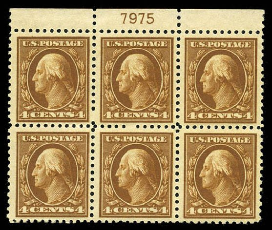 US Stamp Price Scott #503: 1917 4c Washington Perf 11. Matthew Bennett International, Mar 2012, Sale 344, Lot 4625