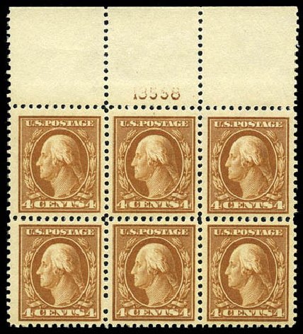 US Stamps Prices Scott Catalog #503 - 1917 4c Washington Perf 11. Matthew Bennett International, Feb 2012, Sale 340, Lot 483