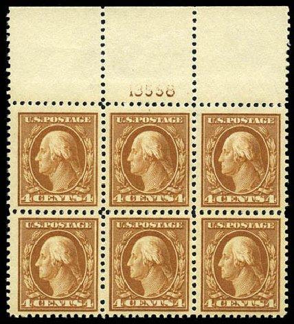 US Stamps Prices Scott Catalog #503 - 1917 4c Washington Perf 11. Matthew Bennett International, Feb 2012, Sale 340, Lot 483