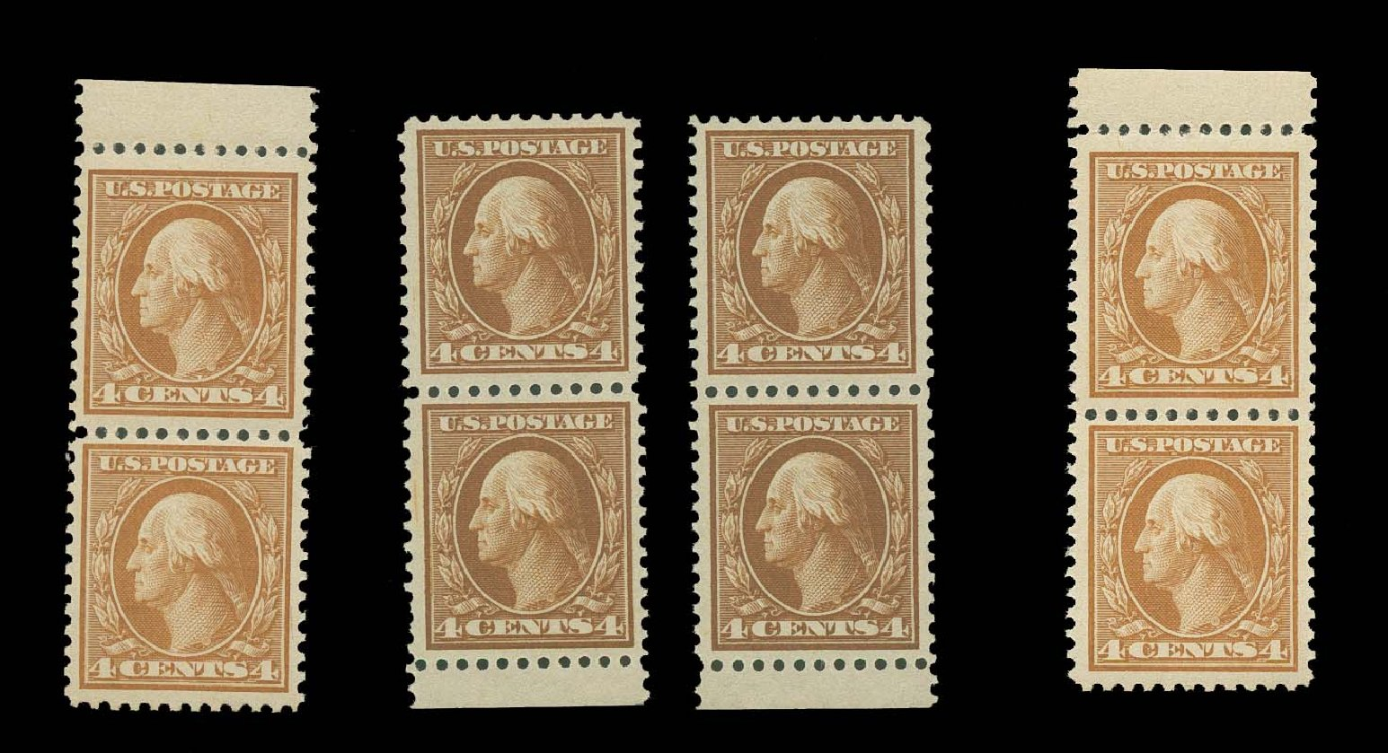 Prices of US Stamp Scott Catalog 503: 4c 1917 Washington Perf 11. H.R. Harmer, Oct 2014, Sale 3006, Lot 1383