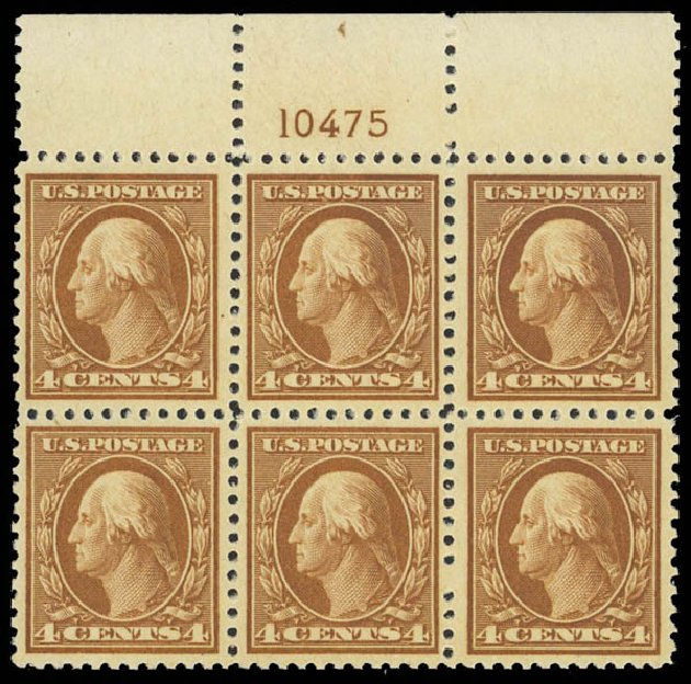 US Stamps Value Scott Cat. # 503: 1917 4c Washington Perf 11. Daniel Kelleher Auctions, Apr 2013, Sale 636, Lot 376