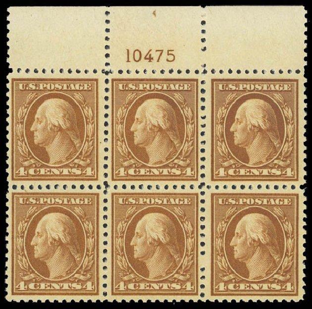 US Stamps Value Scott Cat. # 503: 1917 4c Washington Perf 11. Daniel Kelleher Auctions, Apr 2013, Sale 636, Lot 376