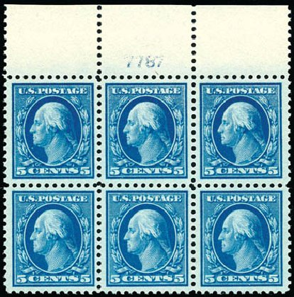 Prices of US Stamp Scott 504 - 1917 5c Washington Perf 11. Schuyler J. Rumsey Philatelic Auctions, Apr 2015, Sale 60, Lot 2927