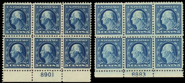 US Stamp Values Scott # 504: 5c 1917 Washington Perf 11. Daniel Kelleher Auctions, Apr 2013, Sale 636, Lot 379