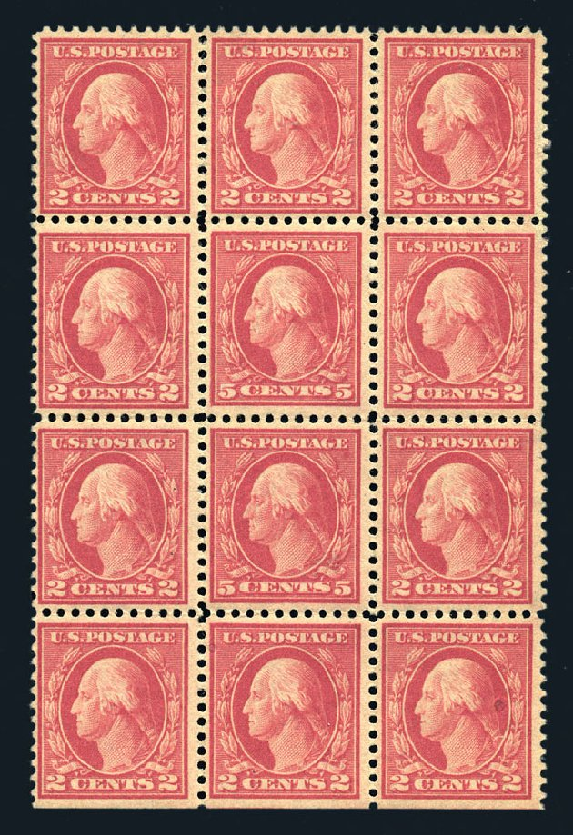 Costs of US Stamp Scott Catalogue 505: 1917 5c Washington Perf 11 Error. Harmer-Schau Auction Galleries, Aug 2015, Sale 106, Lot 1857