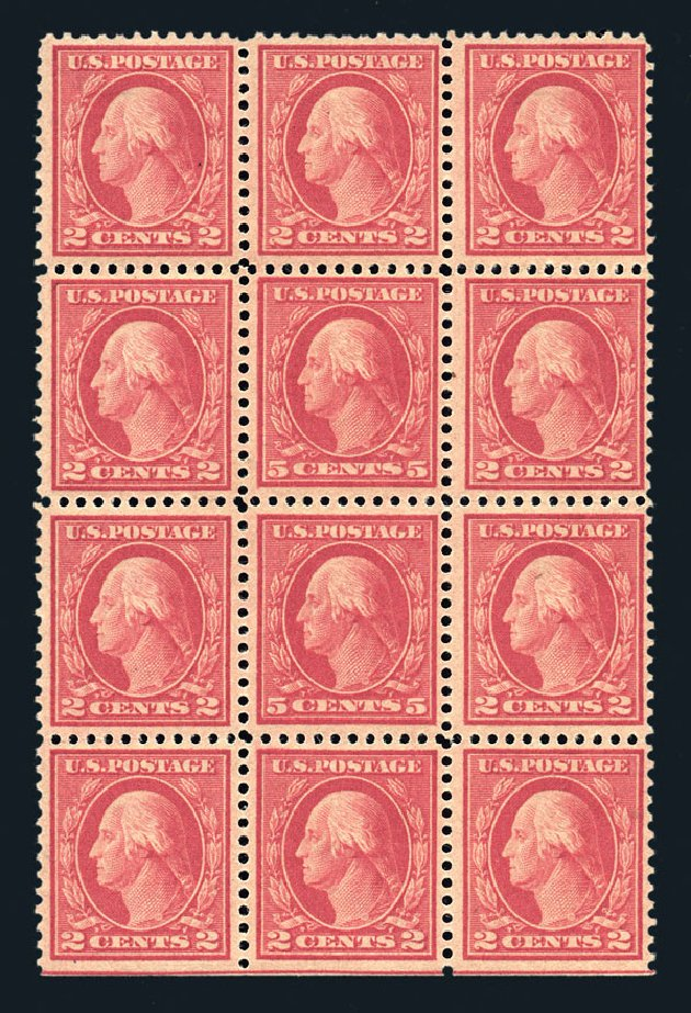 US Stamp Price Scott 505 - 1917 5c Washington Perf 11 Error. Harmer-Schau Auction Galleries, Aug 2015, Sale 106, Lot 1858