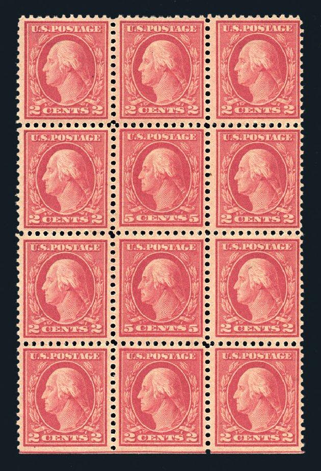 US Stamp Price Scott 505 - 1917 5c Washington Perf 11 Error. Harmer-Schau Auction Galleries, Aug 2015, Sale 106, Lot 1858