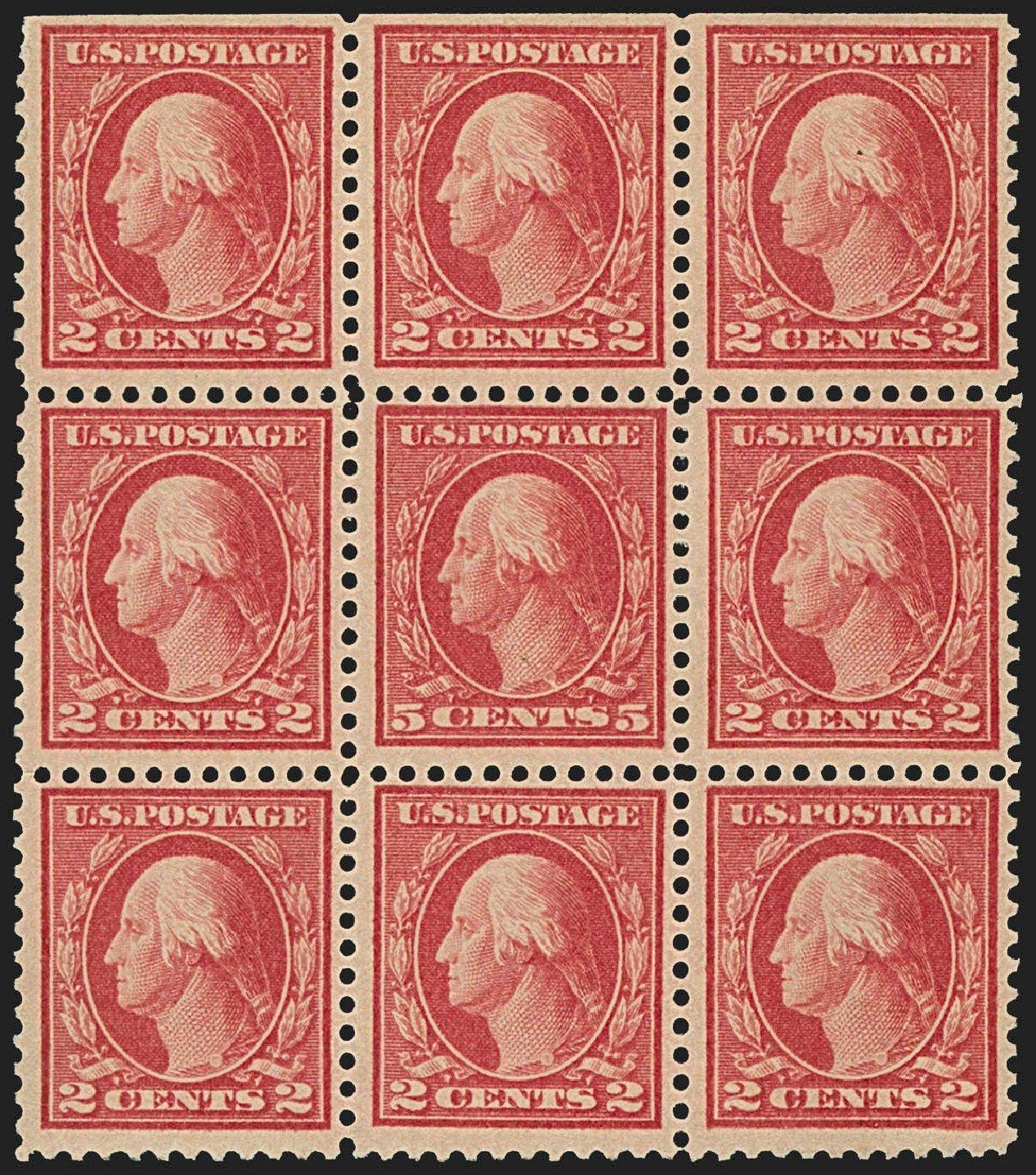 US Stamp Price Scott 505: 5c 1917 Washington Perf 11 Error. Robert Siegel Auction Galleries, Jul 2015, Sale 1107, Lot 498
