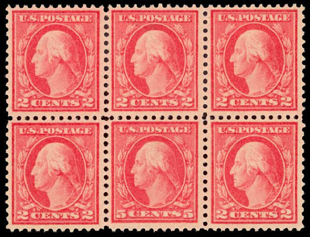 Prices of US Stamp Scott 505: 1917 5c Washington Perf 11 Error. Daniel Kelleher Auctions, Aug 2015, Sale 672, Lot 2769