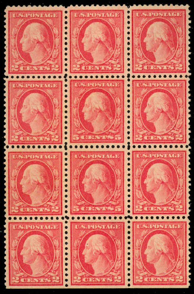 US Stamp Price Scott Catalog # 505 - 1917 5c Washington Perf 11 Error. Daniel Kelleher Auctions, Aug 2015, Sale 672, Lot 2770