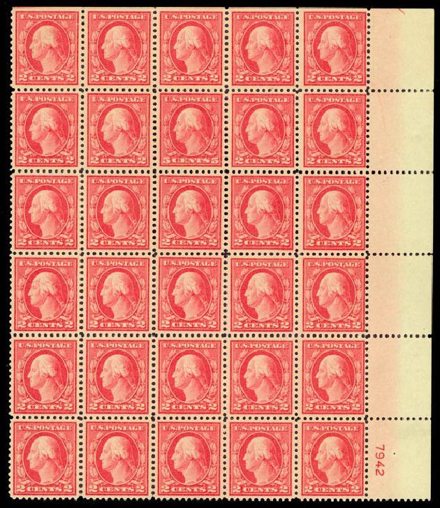 US Stamps Value Scott Catalog #505: 5c 1917 Washington Perf 11 Error. Daniel Kelleher Auctions, Aug 2015, Sale 672, Lot 2771
