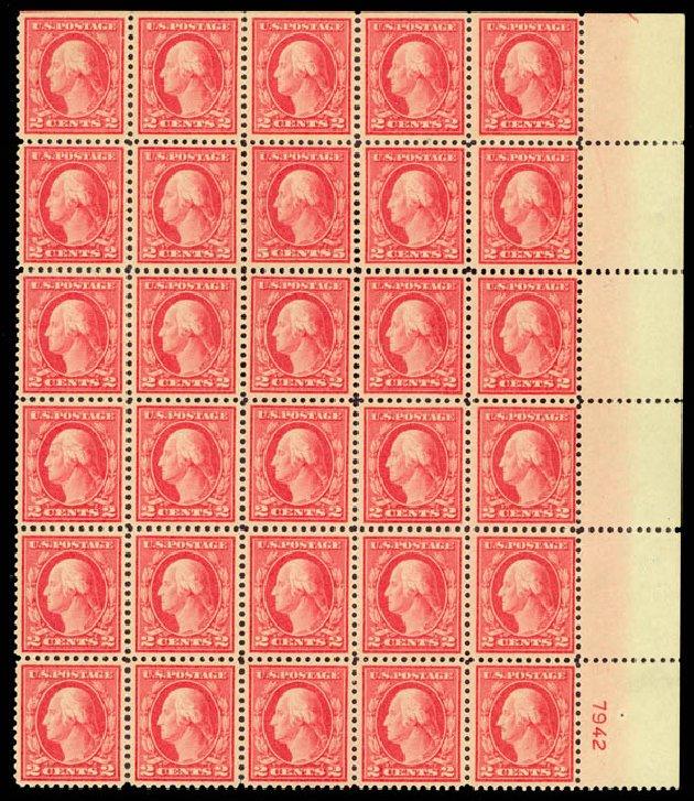 US Stamps Value Scott Catalog #505: 5c 1917 Washington Perf 11 Error. Daniel Kelleher Auctions, Aug 2015, Sale 672, Lot 2771