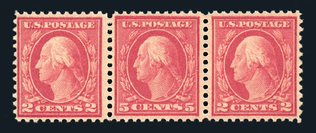 Cost of US Stamps Scott # 505: 1917 5c Washington Perf 11 Error. Harmer-Schau Auction Galleries, Aug 2015, Sale 106, Lot 1854